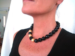 stunning faceted shiny black onyx beads