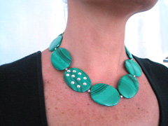 day/night extraordinary malachite necklace